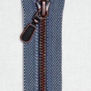 Copper with Herringbone Tape Zipper
