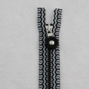 Tire tracks decorative tape zipper