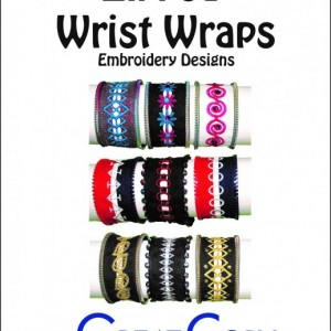 Zipped wrist wraps embroidery designs