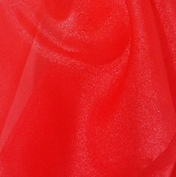 Red Sparkle Organza