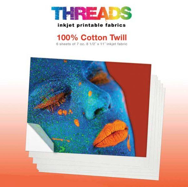 Cotton twill inkjet printer fabric