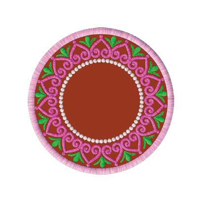 Inner Circle Embroidery Design