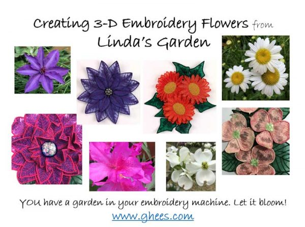 Creating 3D Embroidery Flowers