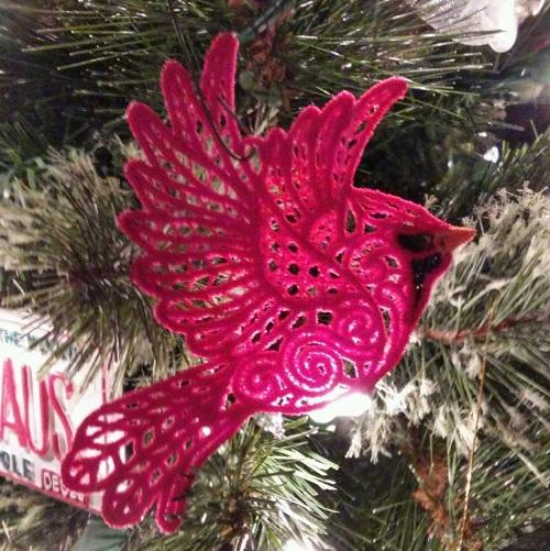 Cardinal embroidery
